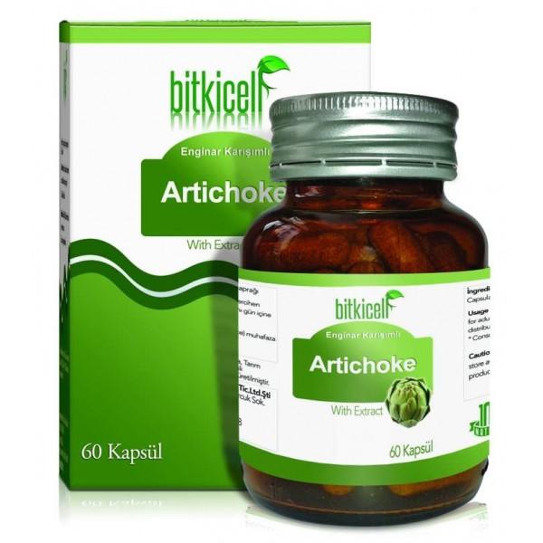 Bitkicell Artichoke Enginar Ekstrakt Kapsülü 750mg 60 Kapsül