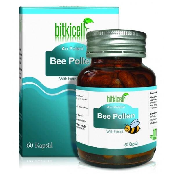 Bitkicell Bee Pollen Arı Poleni Kapsülü 750mg 60 Kapsül