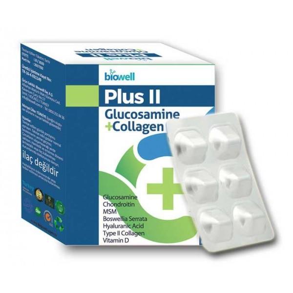 Plus 2 Glucosamine+Collagen 60 Kapsül